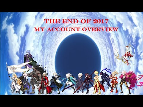 Fate Grand Order | The End of 2017! My FGO NA Account (Servant/CE Overview)