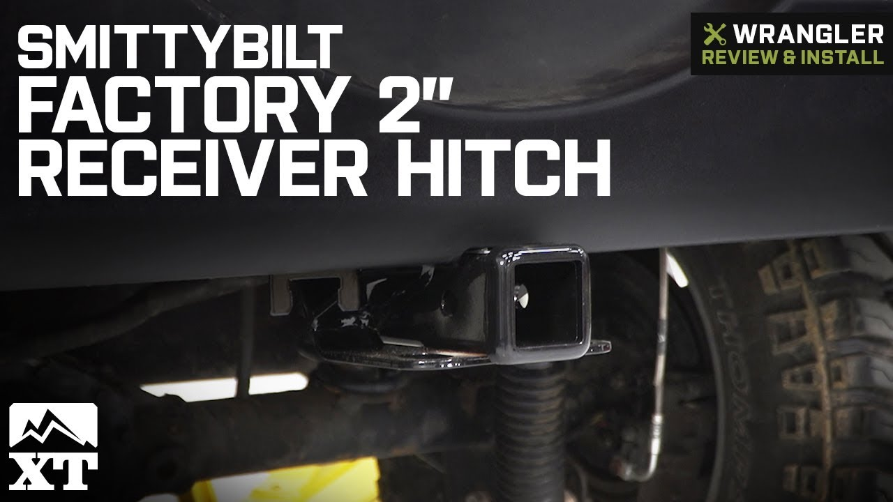 smittybilt jeep wrangler factory style 2 in receiver hitch jh45 07 18 jeep wrangler jk  [ 1280 x 720 Pixel ]