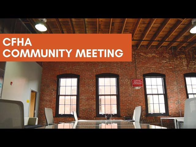 CFHA Community Meeting: Behavioral Health Directors