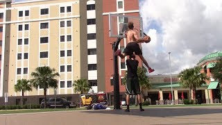 10 Foot Outdoor Dunk Session