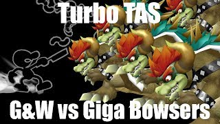 Turbo TAS: Mr. Game and Watch vs 5 Giga Bowsers