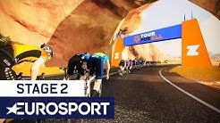Zwift Tour For All Stage 2 Highlights | Elite Men's & Women's Races | Cycling | Eurosport