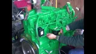 John Deere silnik 6076 - próbny rozruch - remont