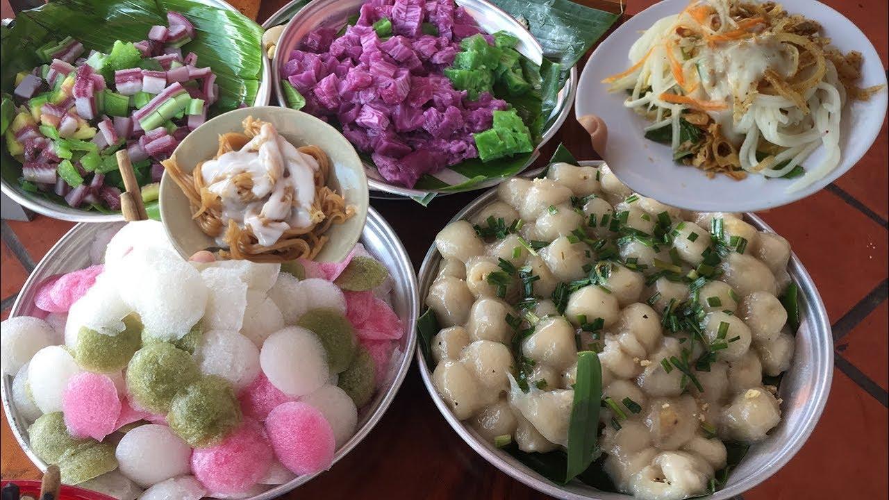 Chỉ 50 ngàn đồng thưởng thức buffet hàng chục loại bánh dân gian Nam Bộ