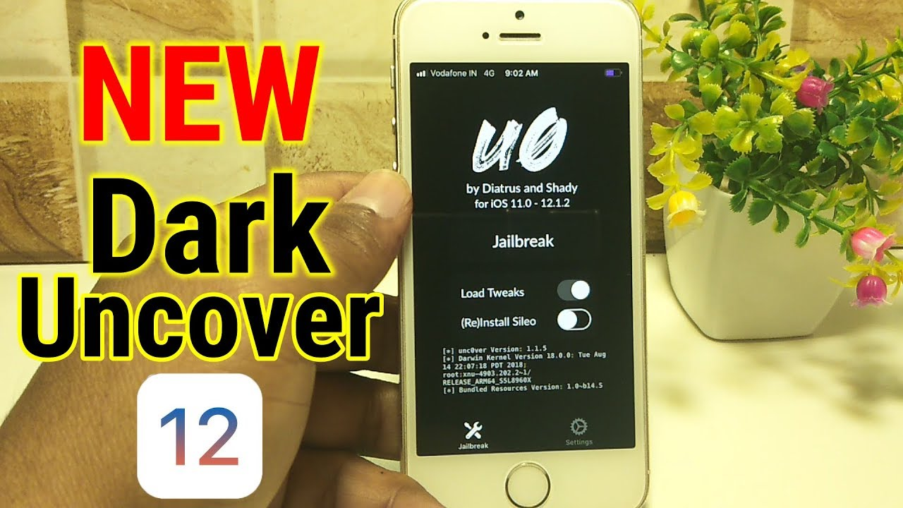 *Update* Uncover Dark New Version With Theme & Sileo Installed (iOS  12-12 1 2)