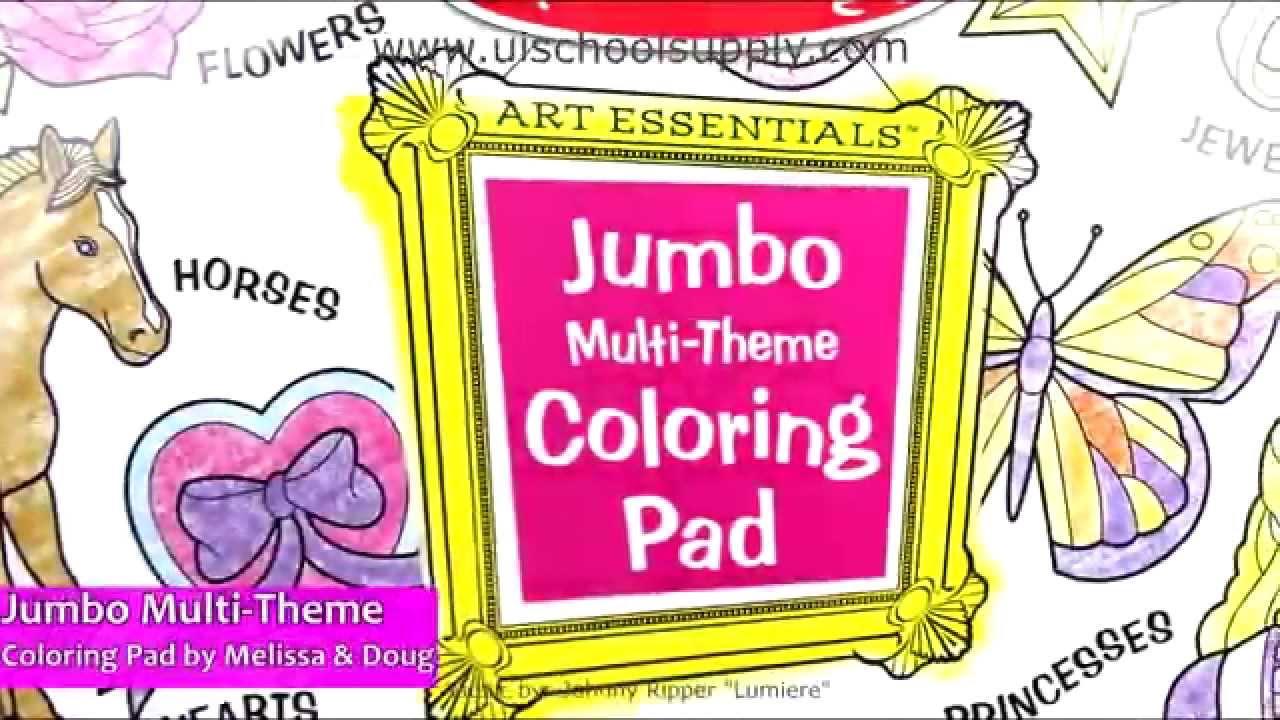 Jumbo Multi-Theme Coloring Pad by Melissa & Doug LCI-4225 - YouTube