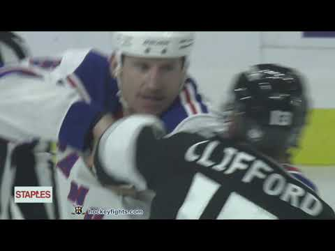 Cody McLeod vs Kyle Clifford Oct 28, 2018
