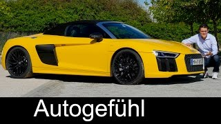 Audi R8 Spyder V10 540 hp FULL REVIEW test driven new/neu 2017 - Autogefühl