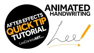 After Effects Tutorial | QUICK TIP | Animated Handwriting