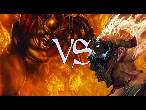 MtG Modern No Ban-List Gameplay - Blazing Infect VS Storm