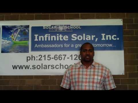 Solar Energy Training Infinite Solar Video Testimonial 2