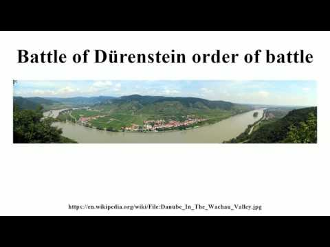 Battle of Dürenstein order of battle