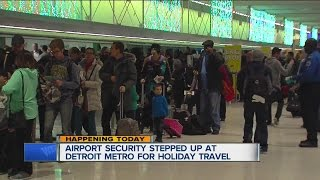 Expect longer lines at Detroit Metro Airport this holiday weekend