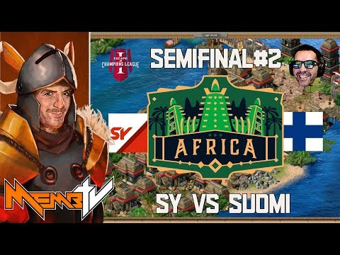 AoE2 Champions League Africa 2v2 Semifinals SY vs Suomi - On another level