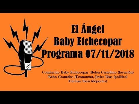 El Ángel con Baby Etchecopar Programa 07/11/2018