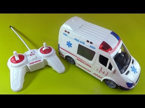 UNBOXING BEST TOYS: Remote control ambulance car RC toy surprise gift for kids