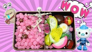 超能玩具白白侠食玩秀:日本便当糖 巴克队长  骷髅宝宝
