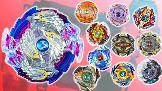 Beyblayde Burst. Крутые игры: Nightmare Longinus против самых сильных волчков Бейблейд Берст
