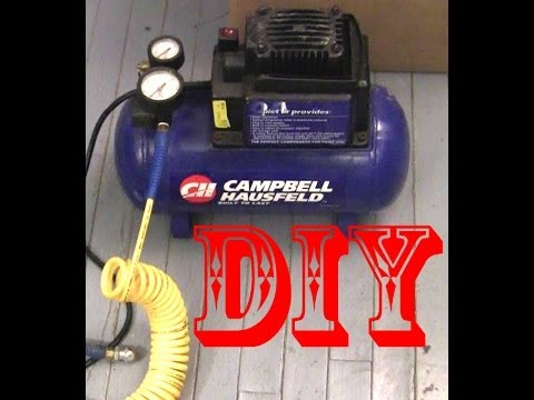 how to connect air compressor
