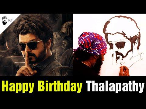 Thalapathy | Happy Birthday | Master | Vathi coming | Actor Vijay - Udhaya Speed Painting