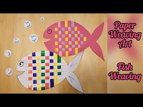 How To Make Paper Weaving Fish | Paper Weaving | Fish Weaving | DIY Paper Weaving Art