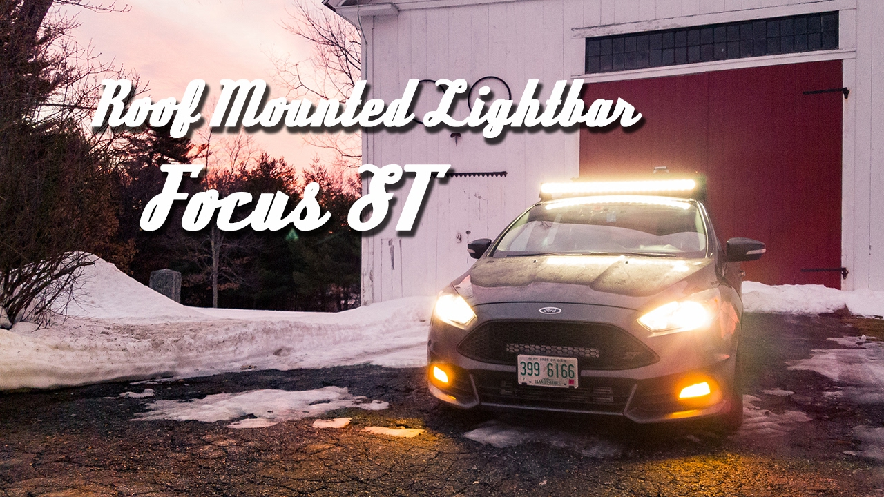 Roof Rack Mounted Light Bar Auxbeam 45 On Focus St Youtube