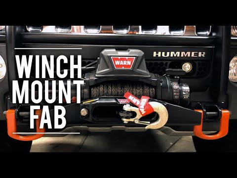 🔧 How To Fabricate a Simple Winch Mount – Hummer H3 Alpha