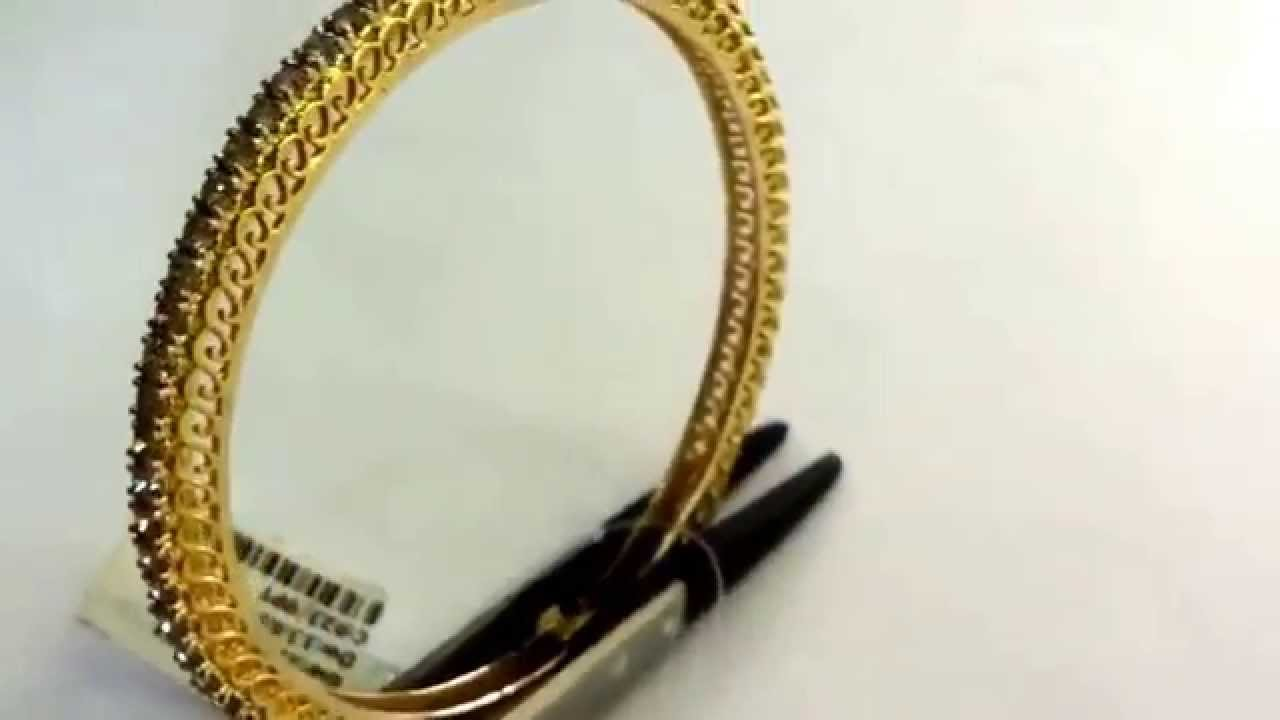 gold hallmarked line in pin single bangles bracelet diamond