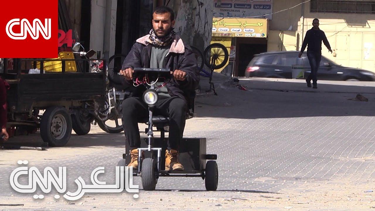 فلسطيني يحوّل الخردة الى سيارات كهربائية