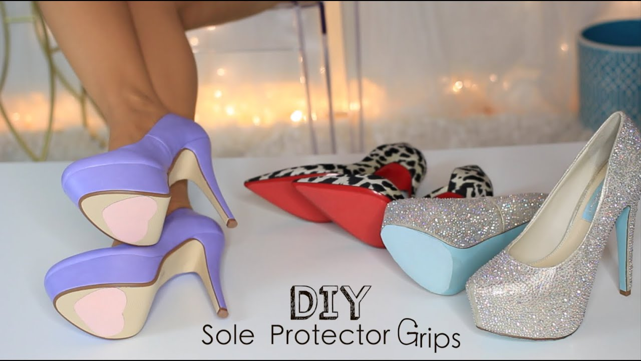 DIY Shoe Sole Protector Grips - YouTube