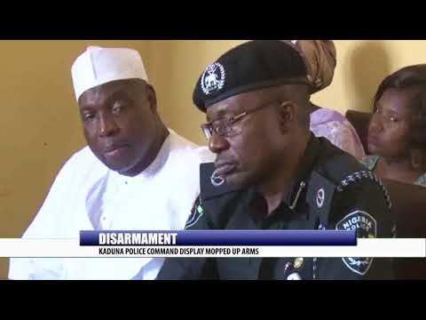 DISARMAMENT: KADUNA POLICE COMMAND DISPLAY MOPPED UP ARMS
