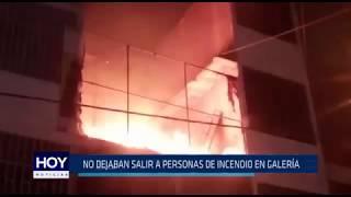 Chiclayo: No dejaban salir a personas de incendio en galería.
