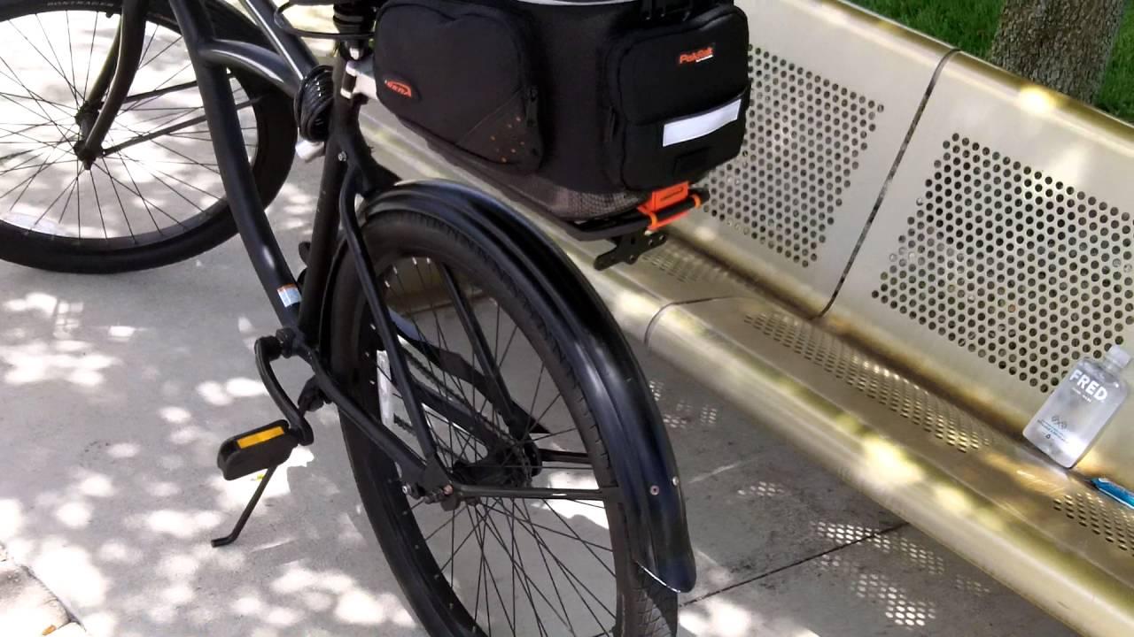 IBERA IB-BA11 BIKE TRUNK BAG CLIP-ON QUICK-RELEASE BICYCLE COMMUTER BAGS