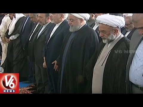 Iran President Hassan Rouhani Offers Prayers At Makkah Masjid | Hyderabad | V6 News