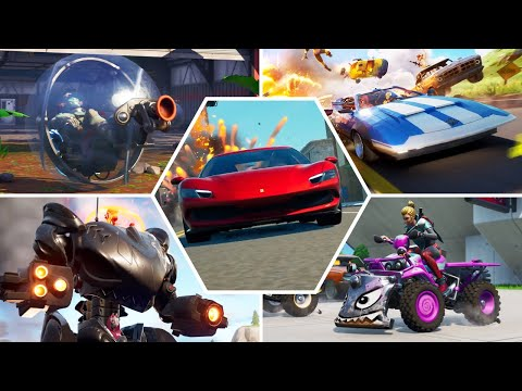 Evolution of Vehicles in All Fortnite Trailers & Cutscenes  