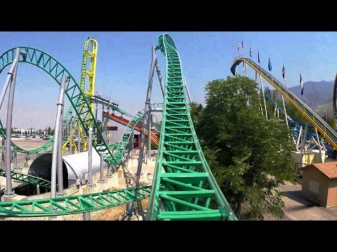 Wicked front seat on-ride HD POV @60fps Lagoon