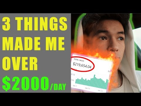 DROP SHIPPING: THESE 3 THINGS MADE ME OVER $2000/DAY ON SHOPIFY