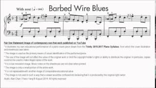 Trinity TCL Piano 2015-2017 Grade 7 B9 Norton Barbed Wire Blues No.26 Sheet Music