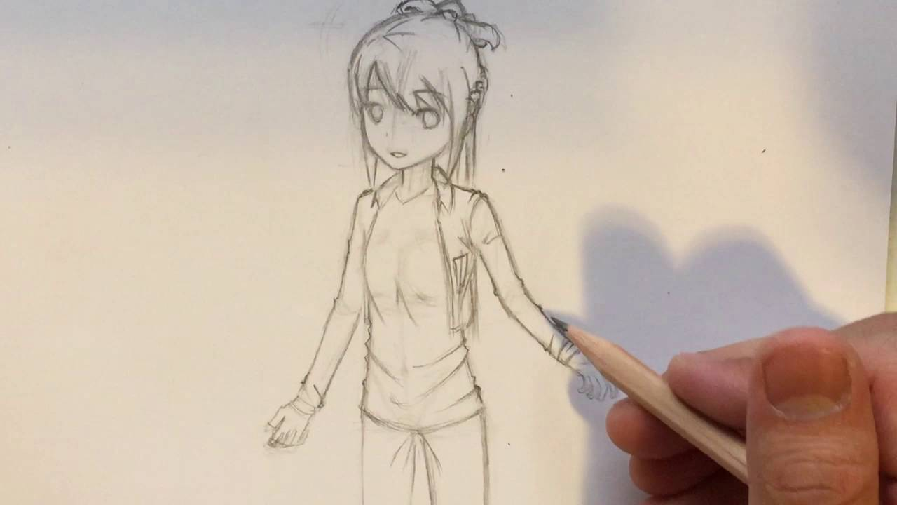 How to draw anime clothes folds creases no timelapse