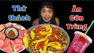 Thử thách Ăn Côn Trùng Huỳnh Như Vlogs Lần Đầu Ăn Nhộng kể Chuyện bạn Thân Nhưng Thân Ai nấy lo