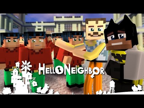 Minecraft Hello neighbor - The Neighbor & Batman Clone Minecraft Steve (minecraft roleplay)