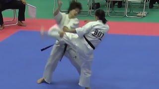 807田崎佑麻(広島県支部)VS808八代美歩(岐阜支部) http://kyokushin-shi...