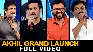 akhil akkineni debut movie grand launch full video