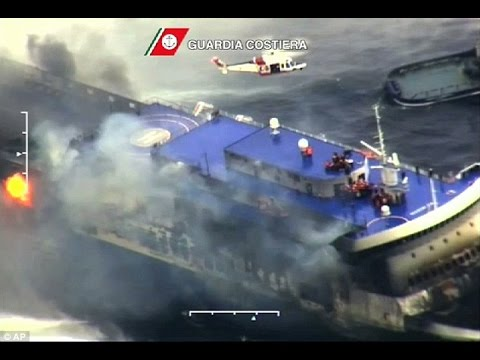 Ferry Fire:First Group of passengers Saved From norman Atlantic Arrive At Italian Port...