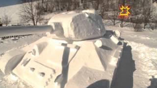 как сделать из снега танк