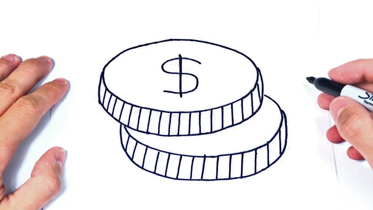 Cómo Dibujar Unas Monedas Dibujo Fácil De Monedas O Dinero