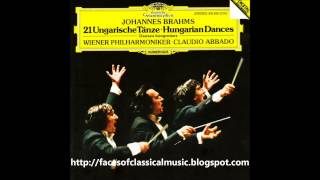 Johannes Brahms: Hungarian Dances - Wiener Philharmoniker, Claudio Abbado (Audio video)