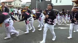 平成30年9月15日 岸和田だんじり祭 宵祭 午後曳行 ※デジカメ動画撮...