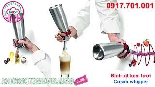 Bình xịt kem tươi tiện lợi, dễ dàng sử dụng cho thức uống hoàn hảo.