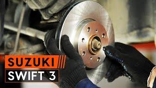 Jak wymienić przednie tarcze hamulcowe i przednie klocki hamulcowe w SUZUKI SWIFT 3 Hatchback